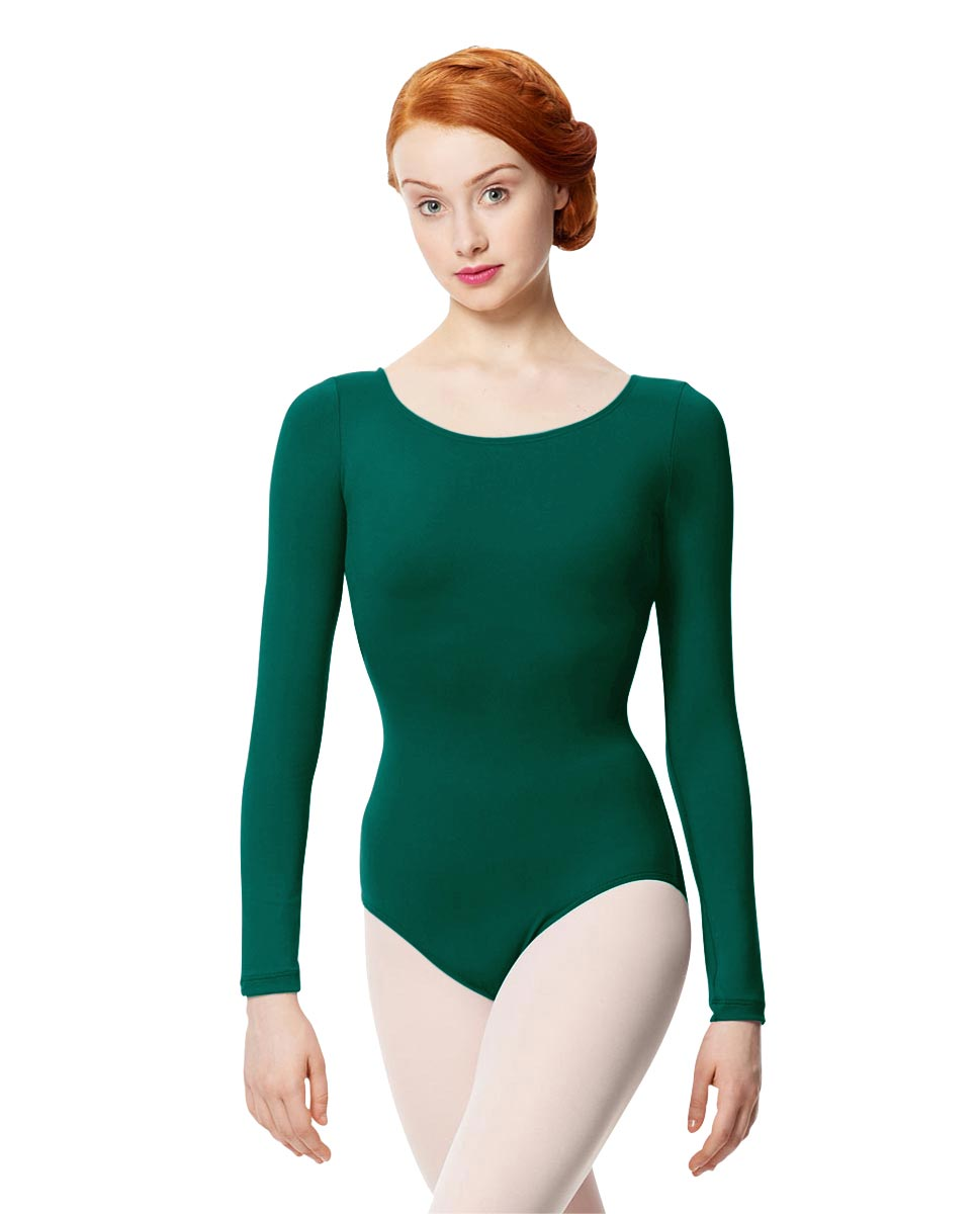 Women Microfiber Long Sleeve Leotard Inez DGREEN