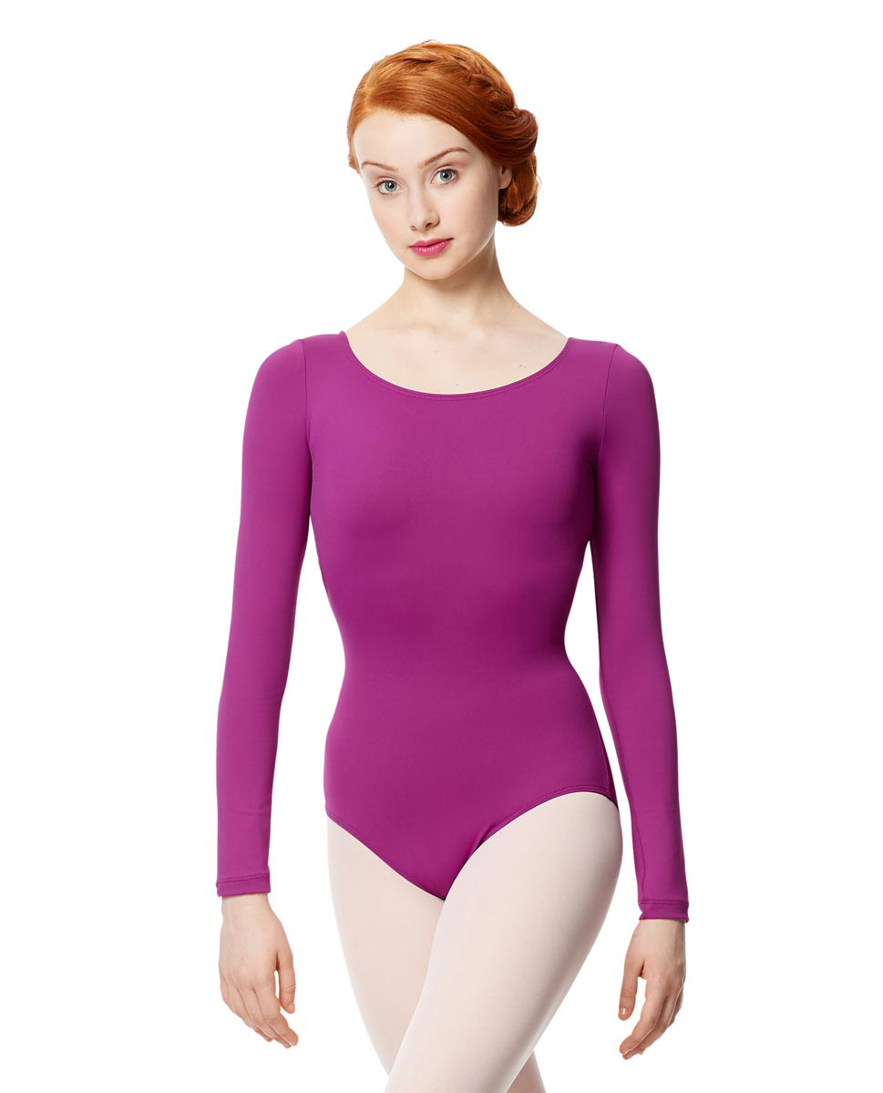 Women Microfiber Long Sleeve Leotard Inez GRAP