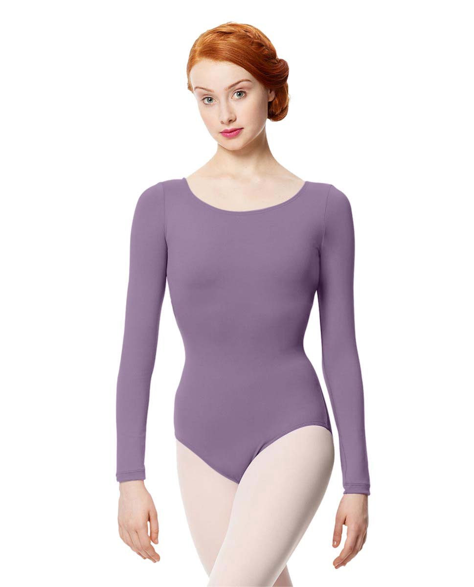 Women Microfiber Long Sleeve Leotard Inez LAV