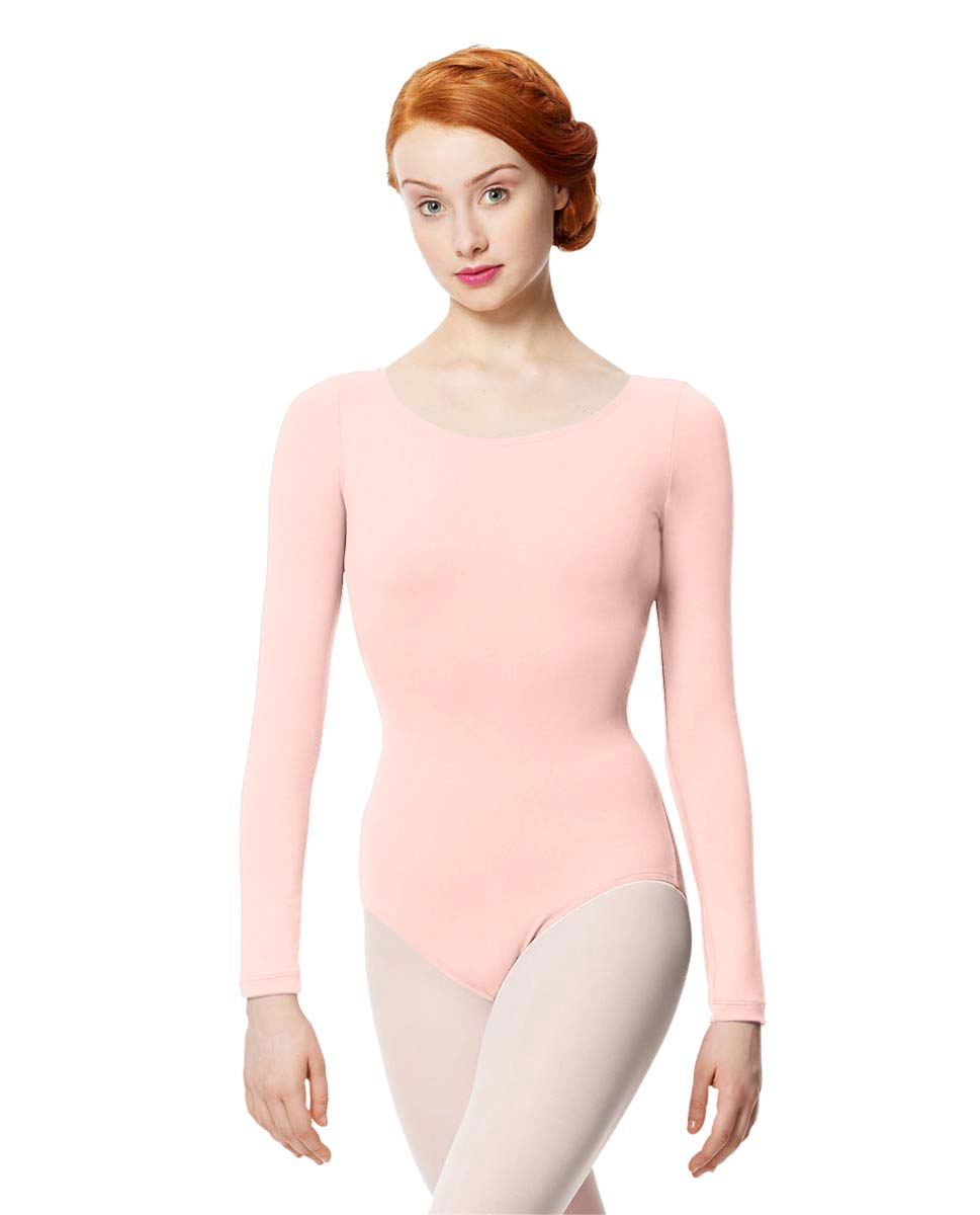 Women Microfiber Long Sleeve Leotard Inez LPNK