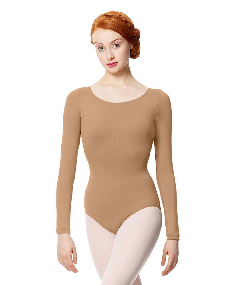 Women Microfiber Long Sleeve Leotard Inez NUD