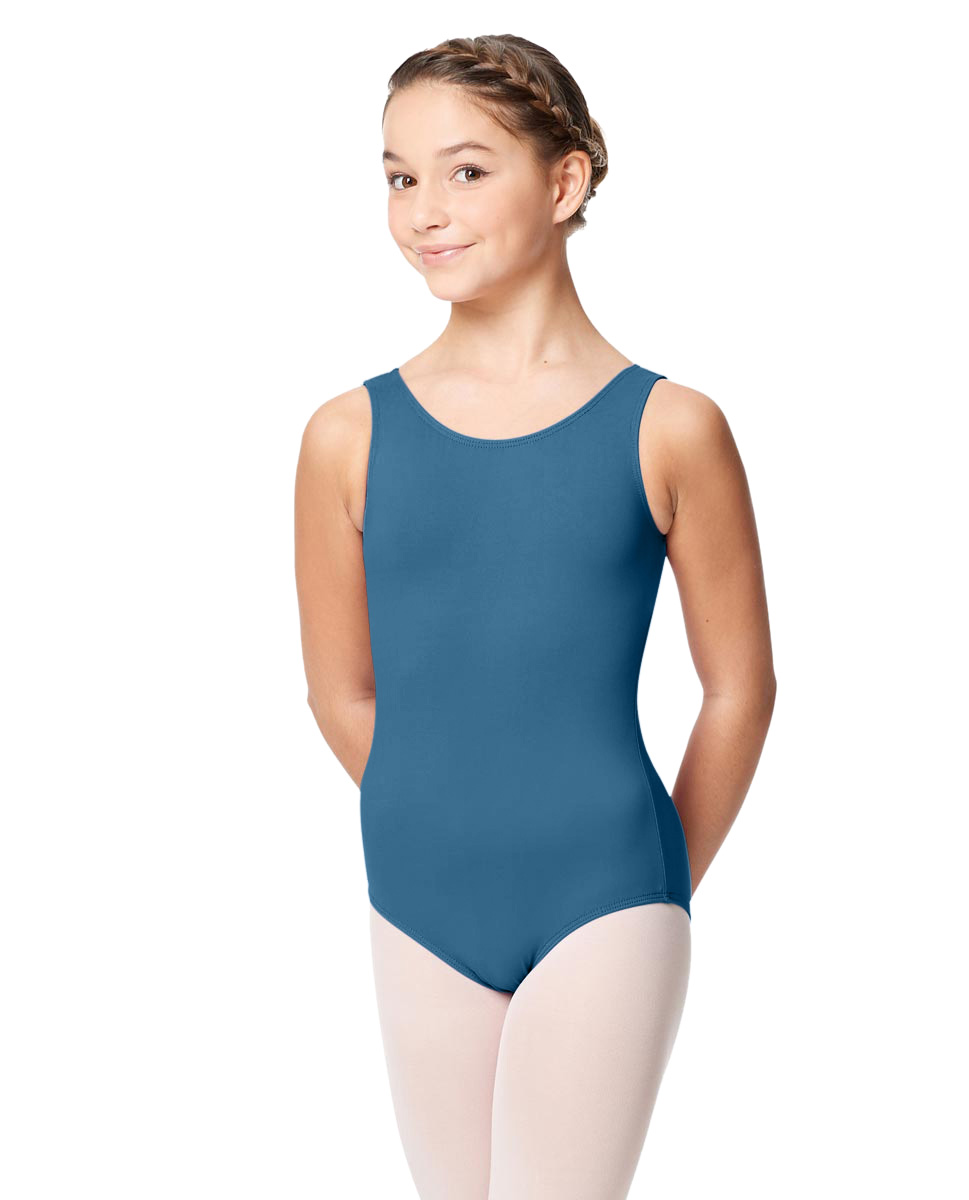 Girls Microfiber Tank Leotard Yolanda BLUE