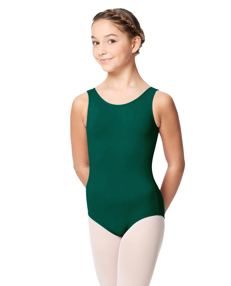 Girls Microfiber Tank Leotard Yolanda DGREEN