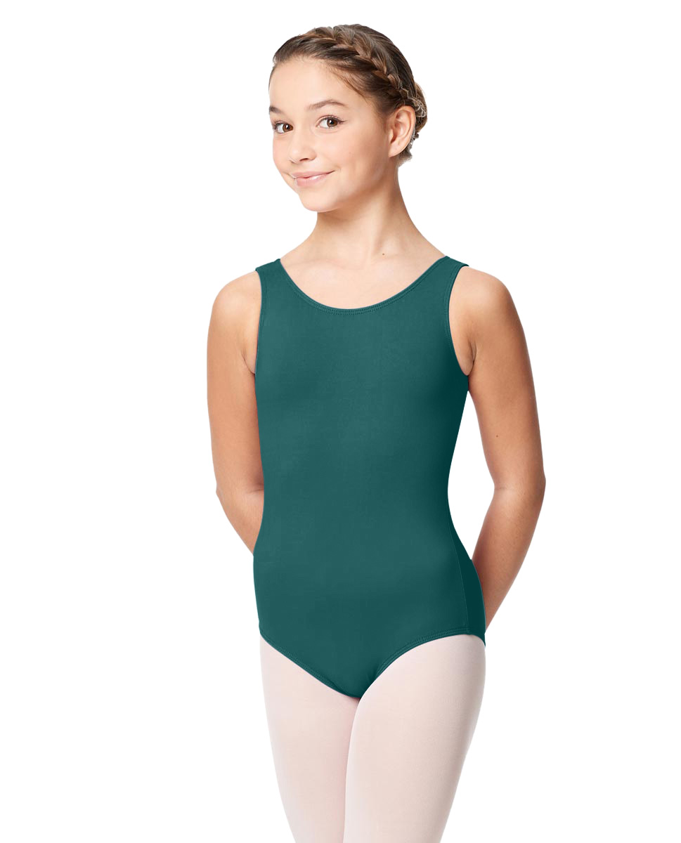 Girls Microfiber Tank Leotard Yolanda TEA