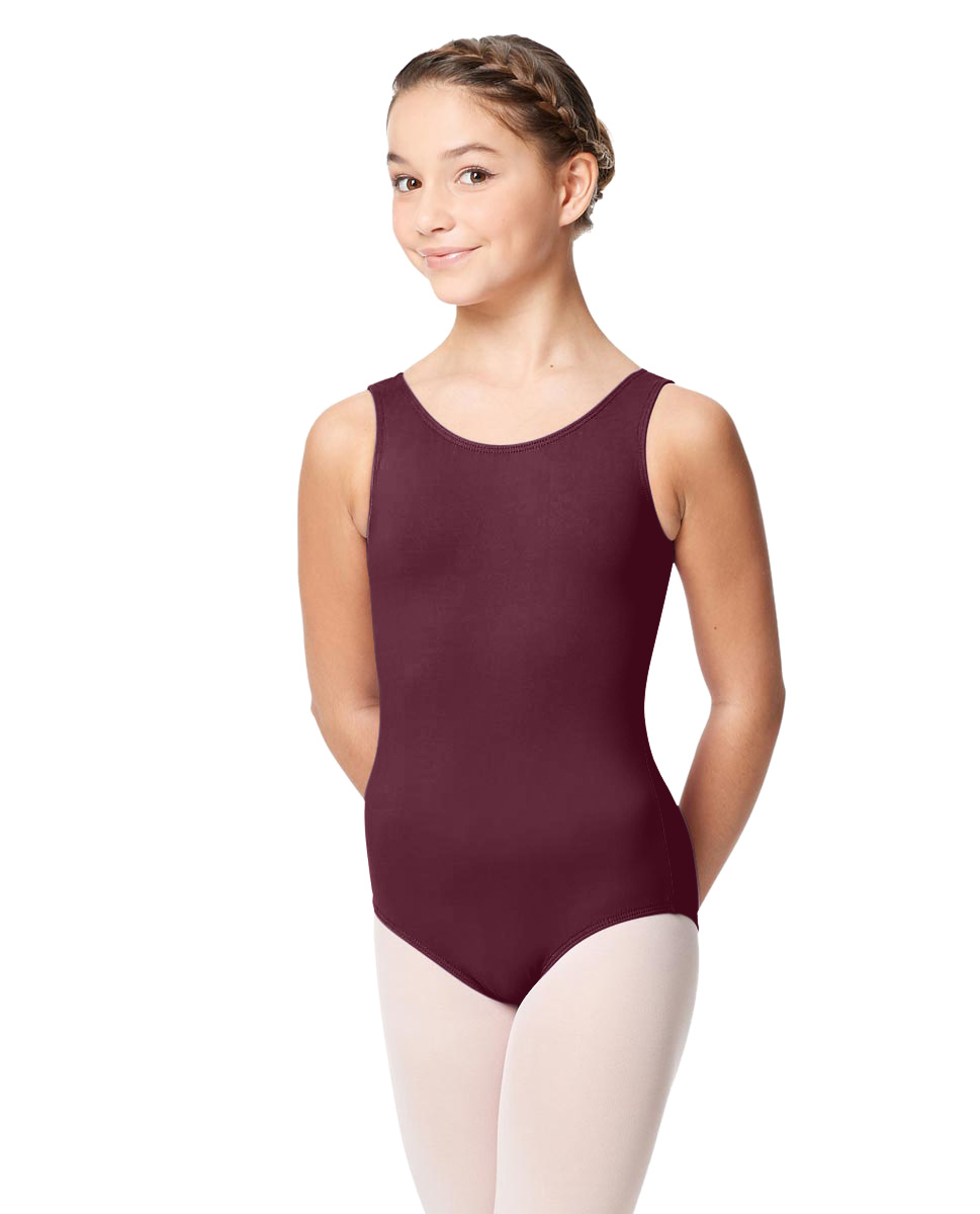 Girls Microfiber Tank Leotard Yolanda WINE