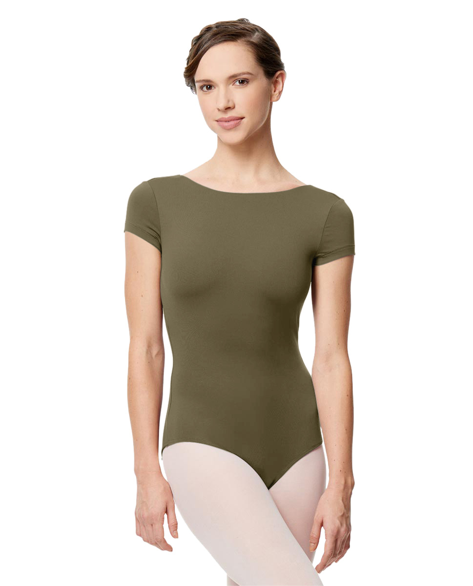 Women Microfiber Full Lining Short Sleeve Leotard Octavia KHA