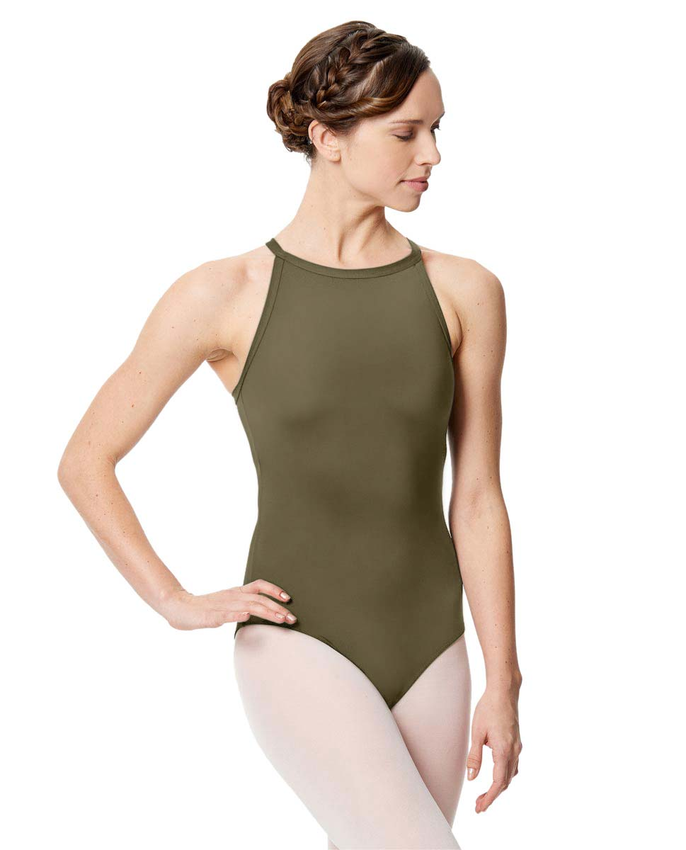 Women Microfiber Halter Neck Leotard Taliana KHA