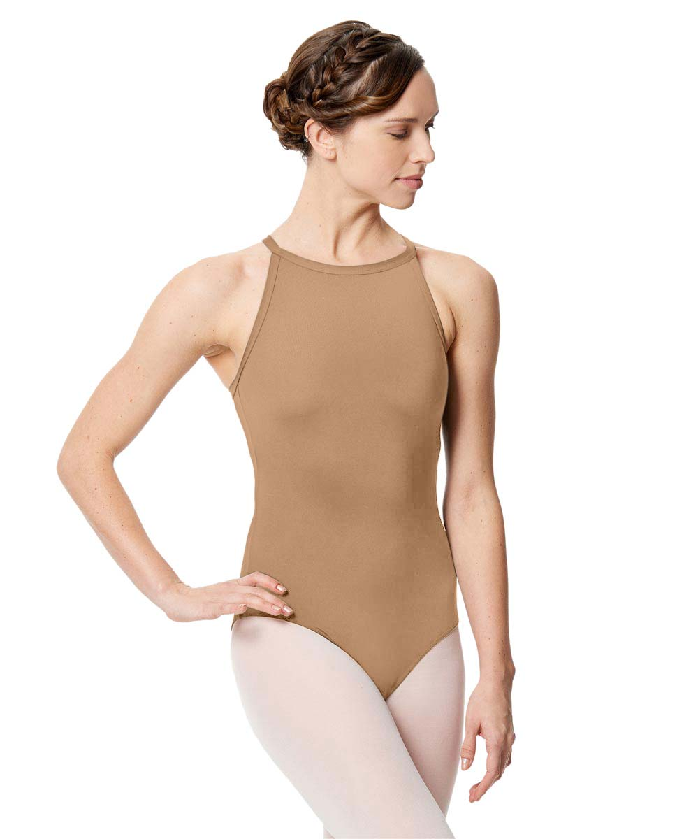 Women Microfiber Halter Neck Leotard Taliana NUD