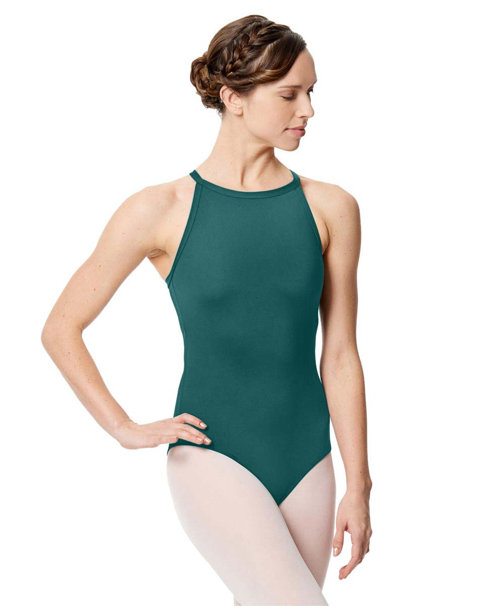 Women Microfiber Halter Neck Leotard Taliana TEA