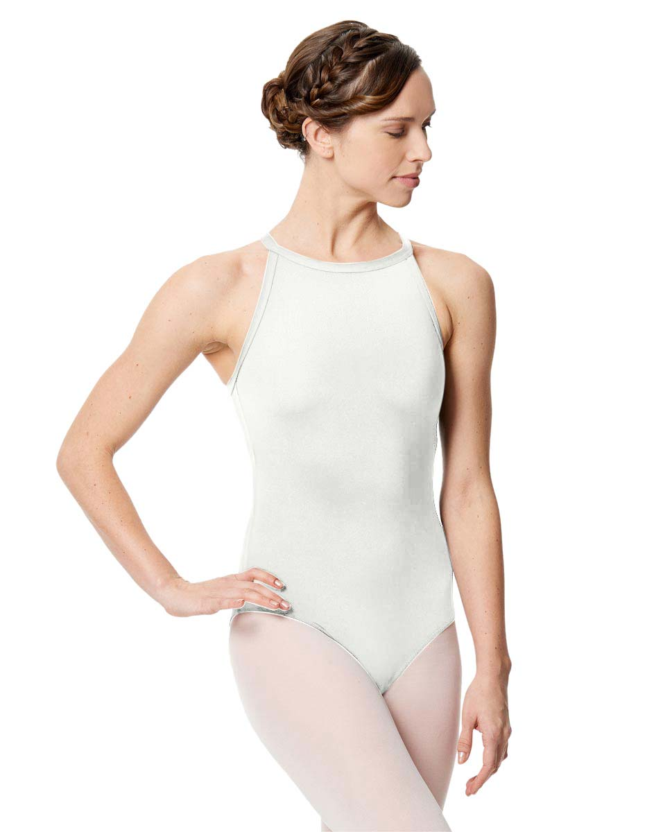 Women Microfiber Halter Neck Leotard Taliana WHI