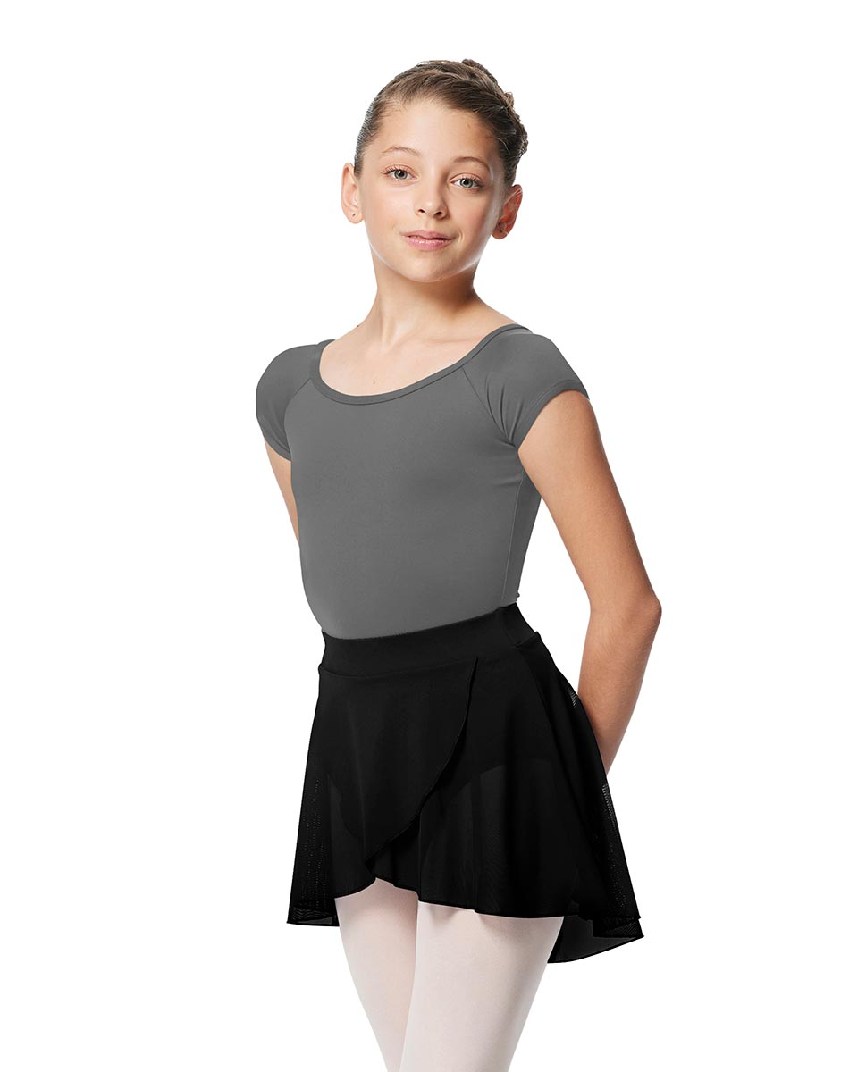 Girls Pull on Wrap Dance Skirt Natasha  BLK