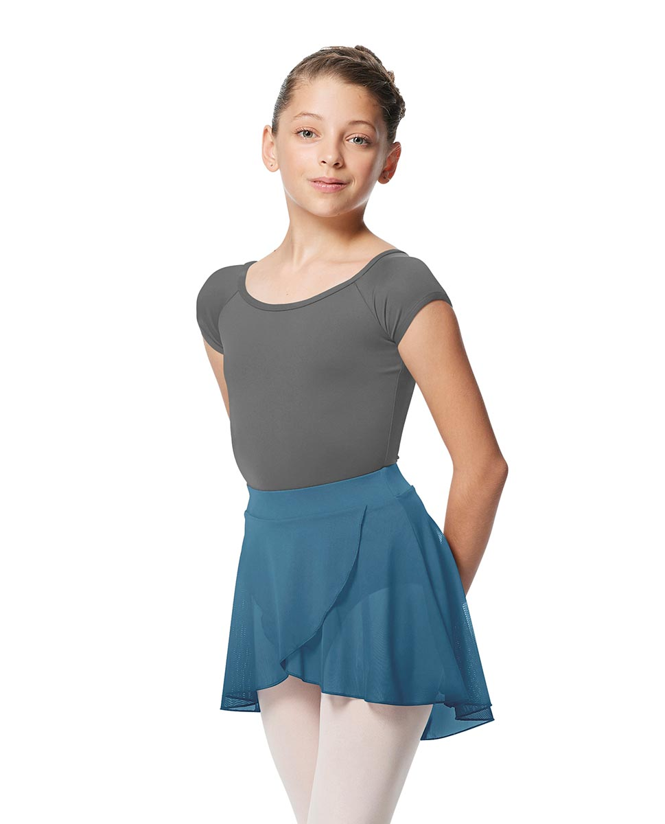 Girls Pull on Wrap Dance Skirt Natasha  BLUE