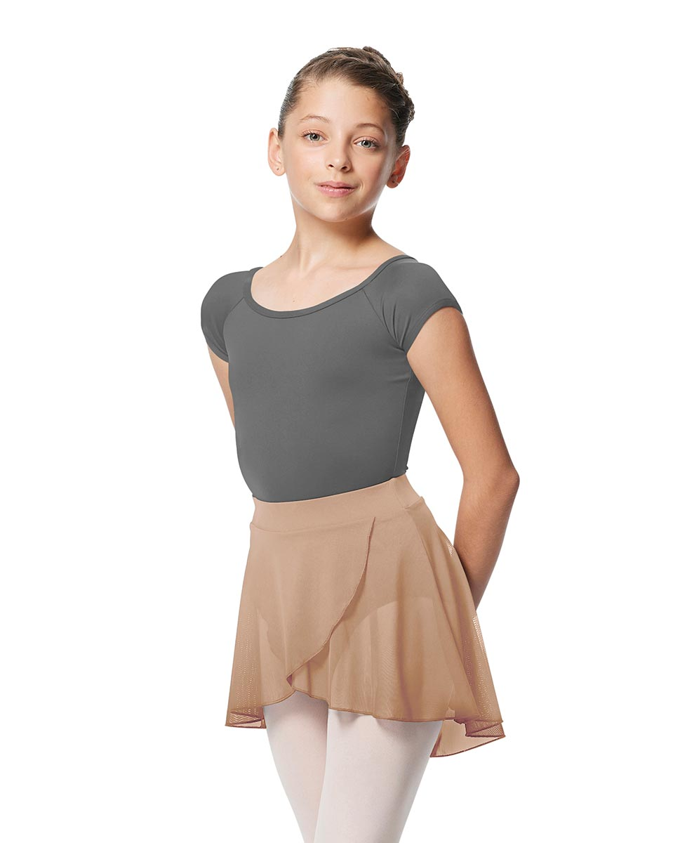 Girls Pull on Wrap Dance Skirt Natasha  NUD