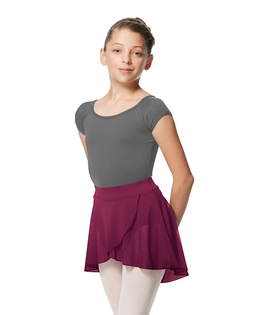 Girls Pull on Wrap Dance Skirt Natasha  WINE