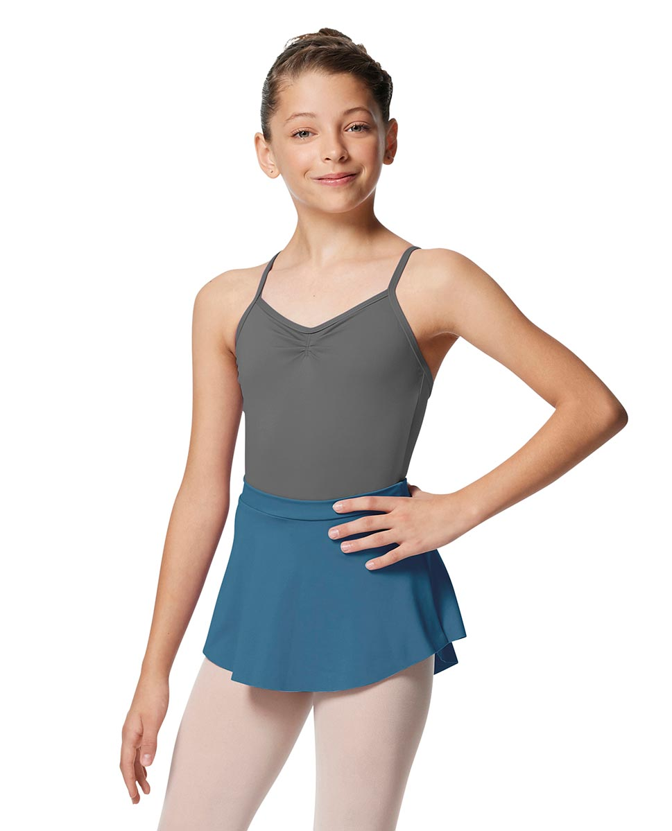 Girls Pull On Tactel Short Dance Skirt Ksenia BLUE