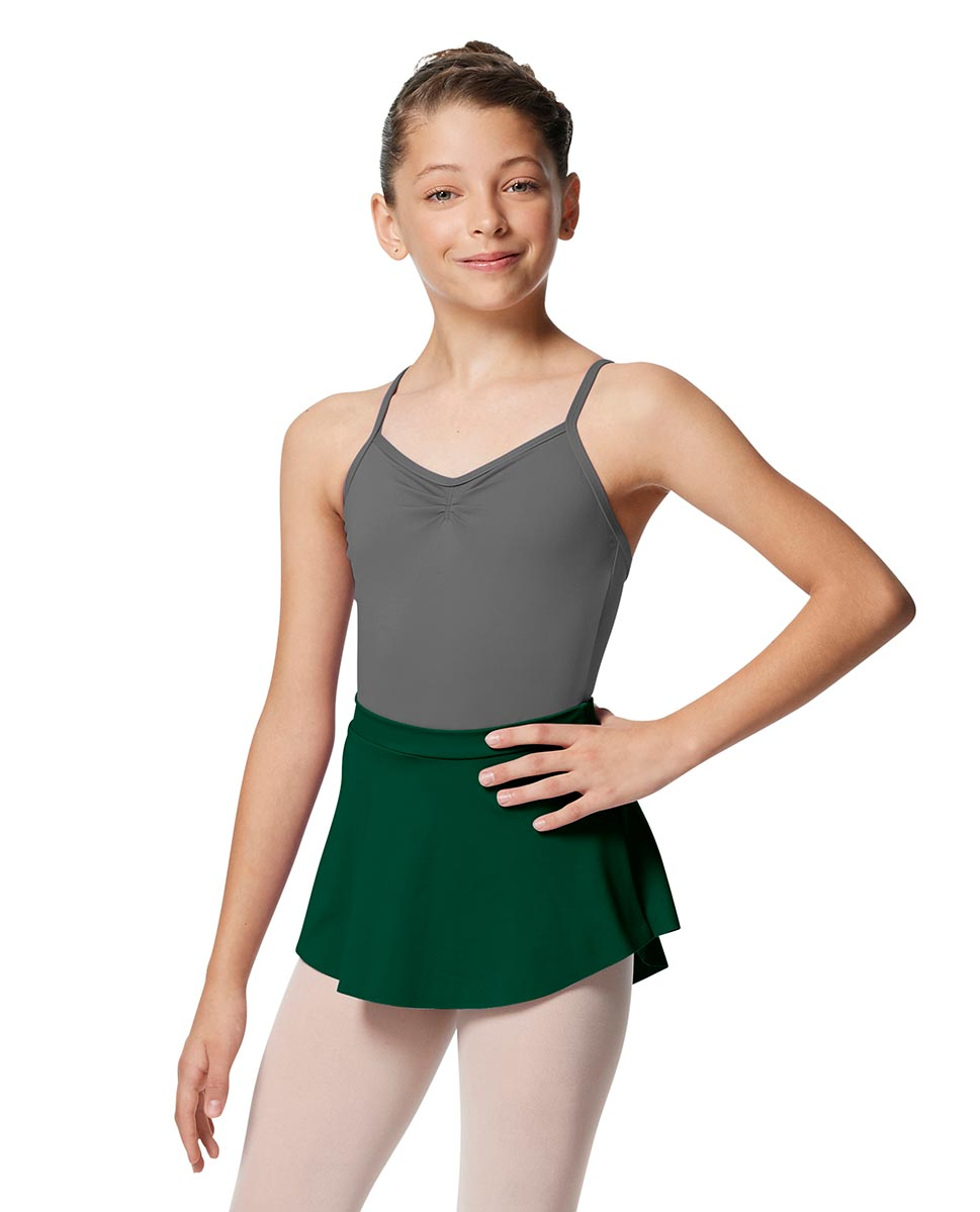 Girls Pull On Tactel Short Dance Skirt Ksenia DGREEN