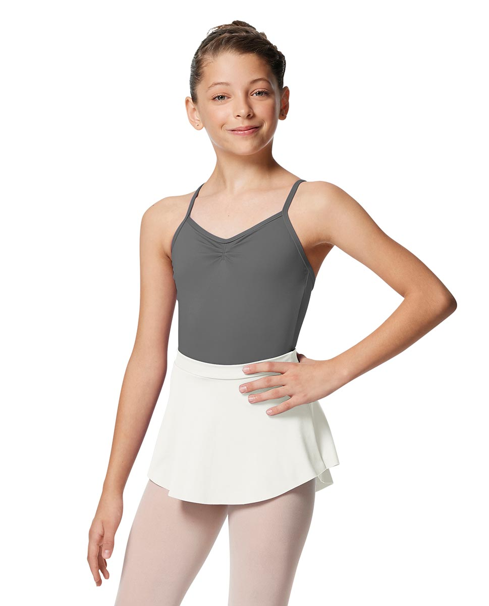 Girls Pull On Tactel Short Dance Skirt Ksenia WHI