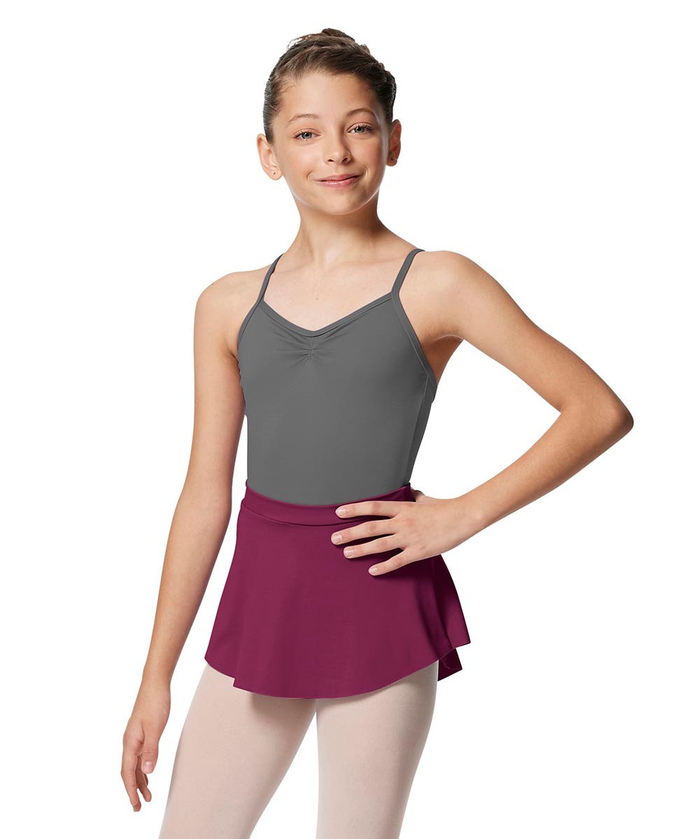 Girls Pull On Tactel Short Dance Skirt Ksenia WINE