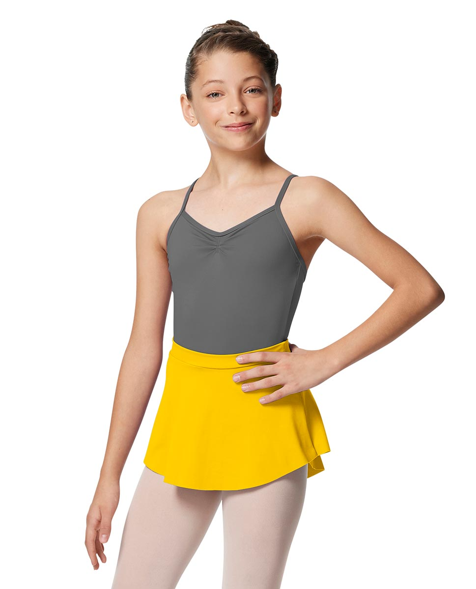 Girls Pull On Tactel Short Dance Skirt Ksenia YEL