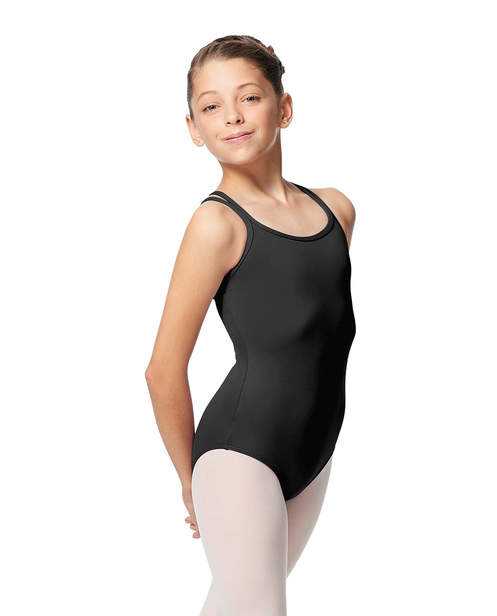 Girls Double Strap Tactel Camisole Dance Leotard Caitie DGRE
