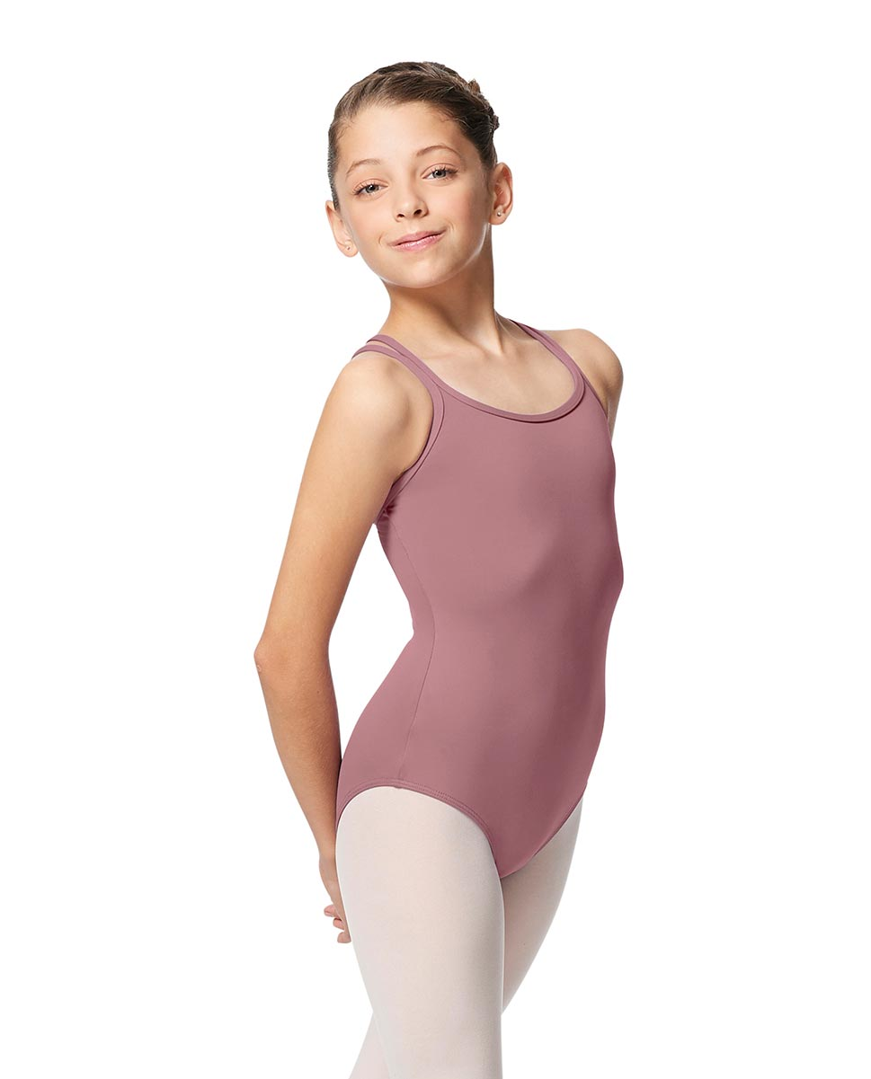 Girls Double Strap Tactel Camisole Dance Leotard Caitie DROS
