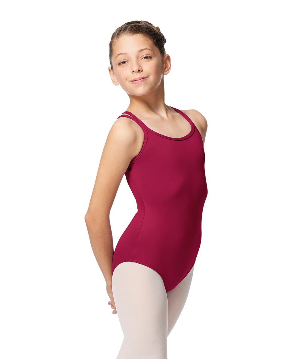 Girls Double Strap Tactel Camisole Dance Leotard Caitie FUC