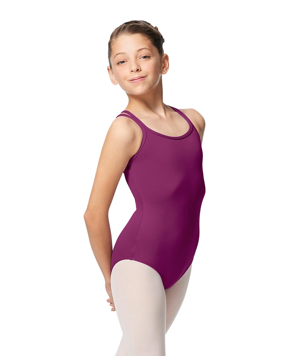 Girls Double Strap Tactel Camisole Dance Leotard Caitie GRAP