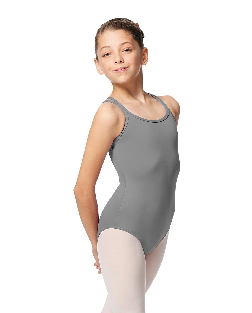Girls Double Strap Tactel Camisole Dance Leotard Caitie GRE