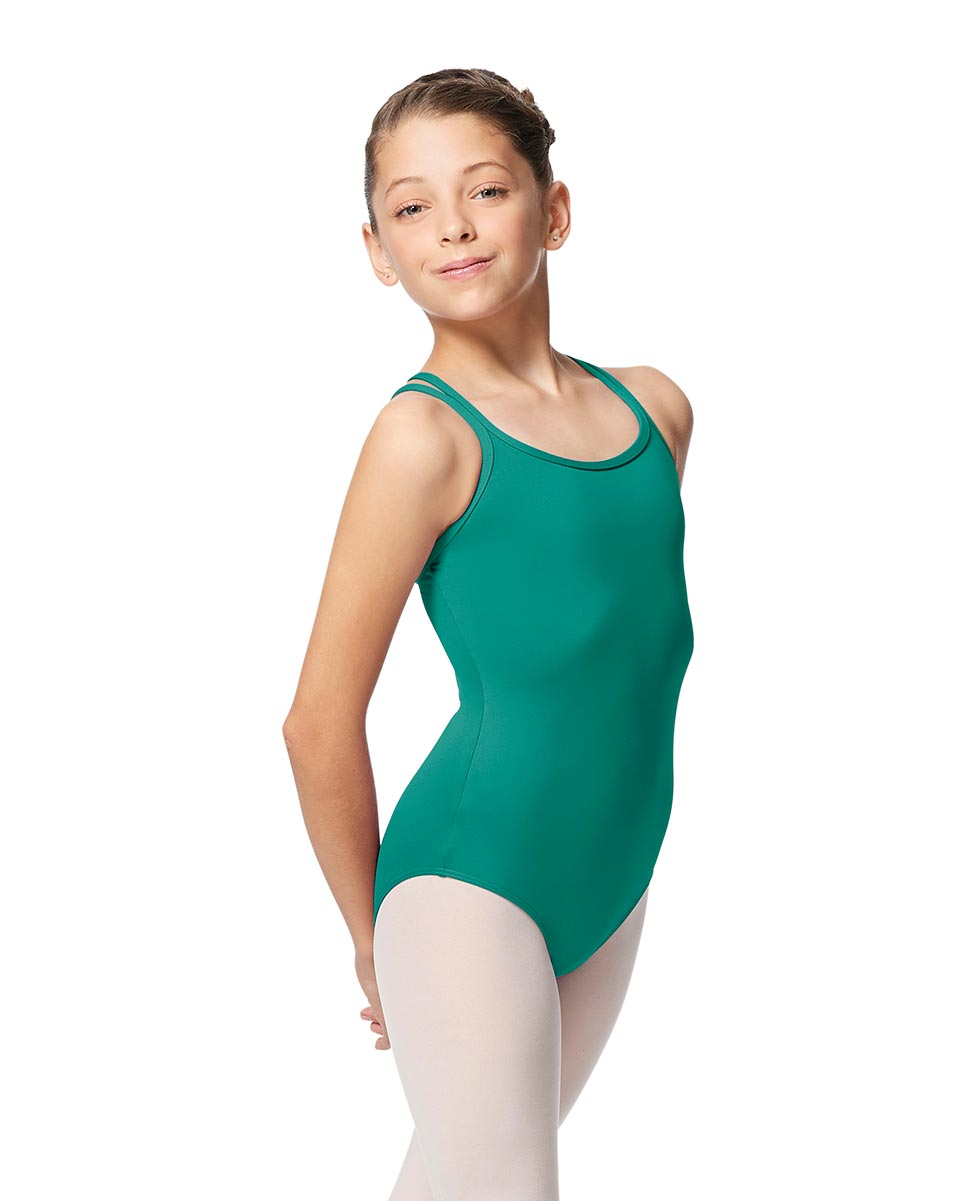 Girls Double Strap Tactel Camisole Dance Leotard Caitie JAD