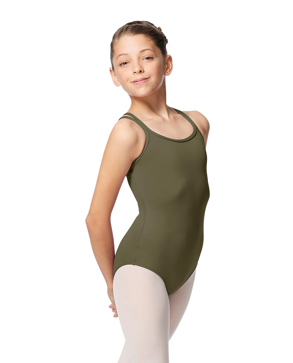 Girls Double Strap Tactel Camisole Dance Leotard Caitie KHA