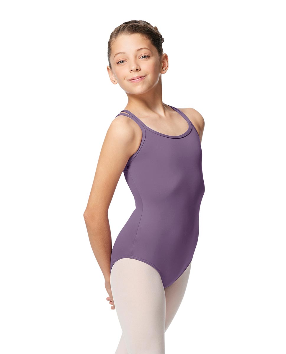 Girls Double Strap Tactel Camisole Dance Leotard Caitie LAV