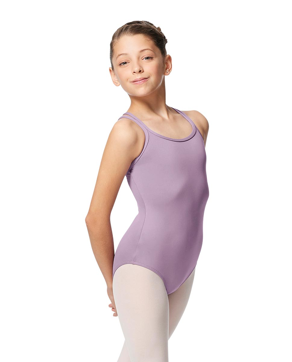 Girls Double Strap Tactel Camisole Dance Leotard Caitie LIL