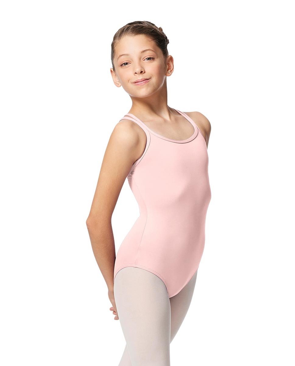 Girls Double Strap Tactel Camisole Dance Leotard Caitie LPNK