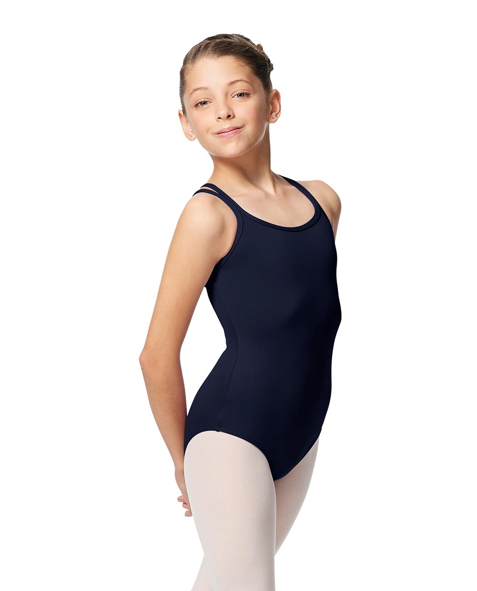 Girls Double Strap Tactel Camisole Dance Leotard Caitie NAY