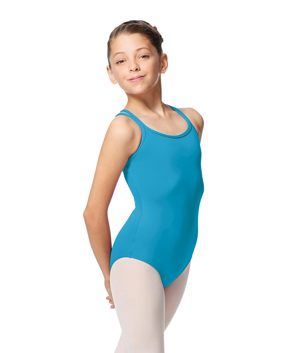 Girls Double Strap Tactel Camisole Dance Leotard Caitie TUR