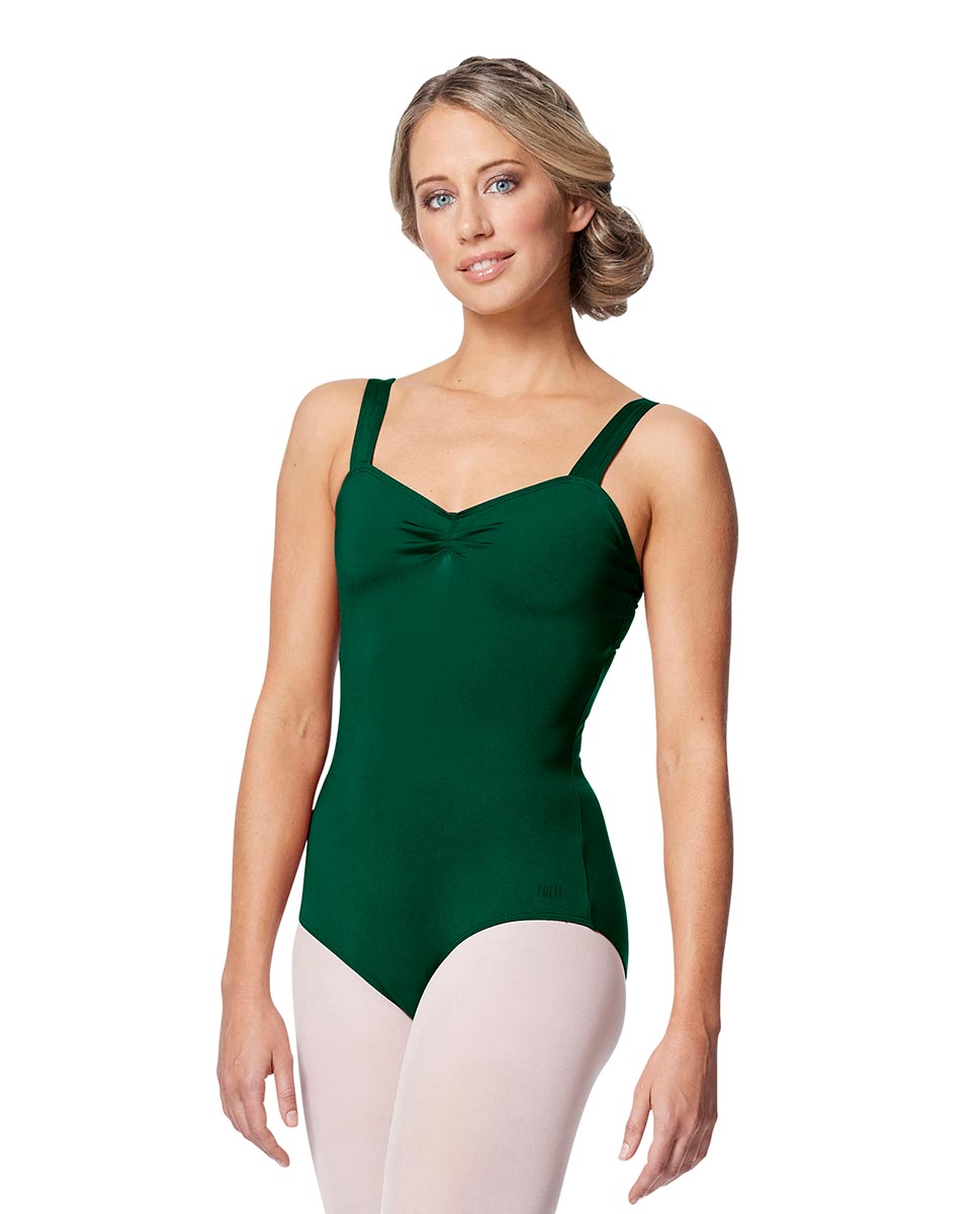Women Wide Strap Camisole Leotard Cadina DGREEN