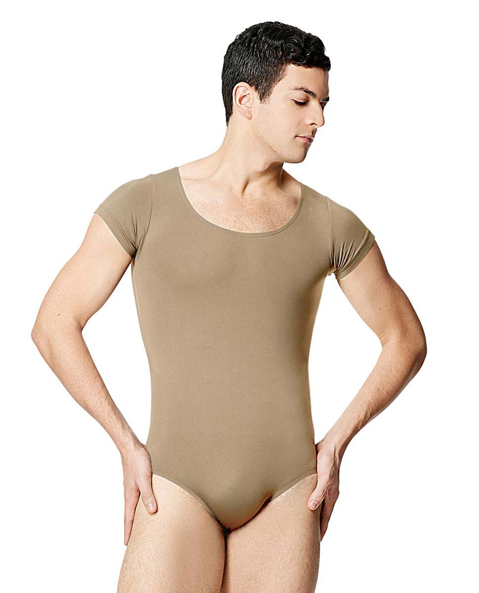 Mens Microfiber Short Sleeve Leotard Terryl NUD