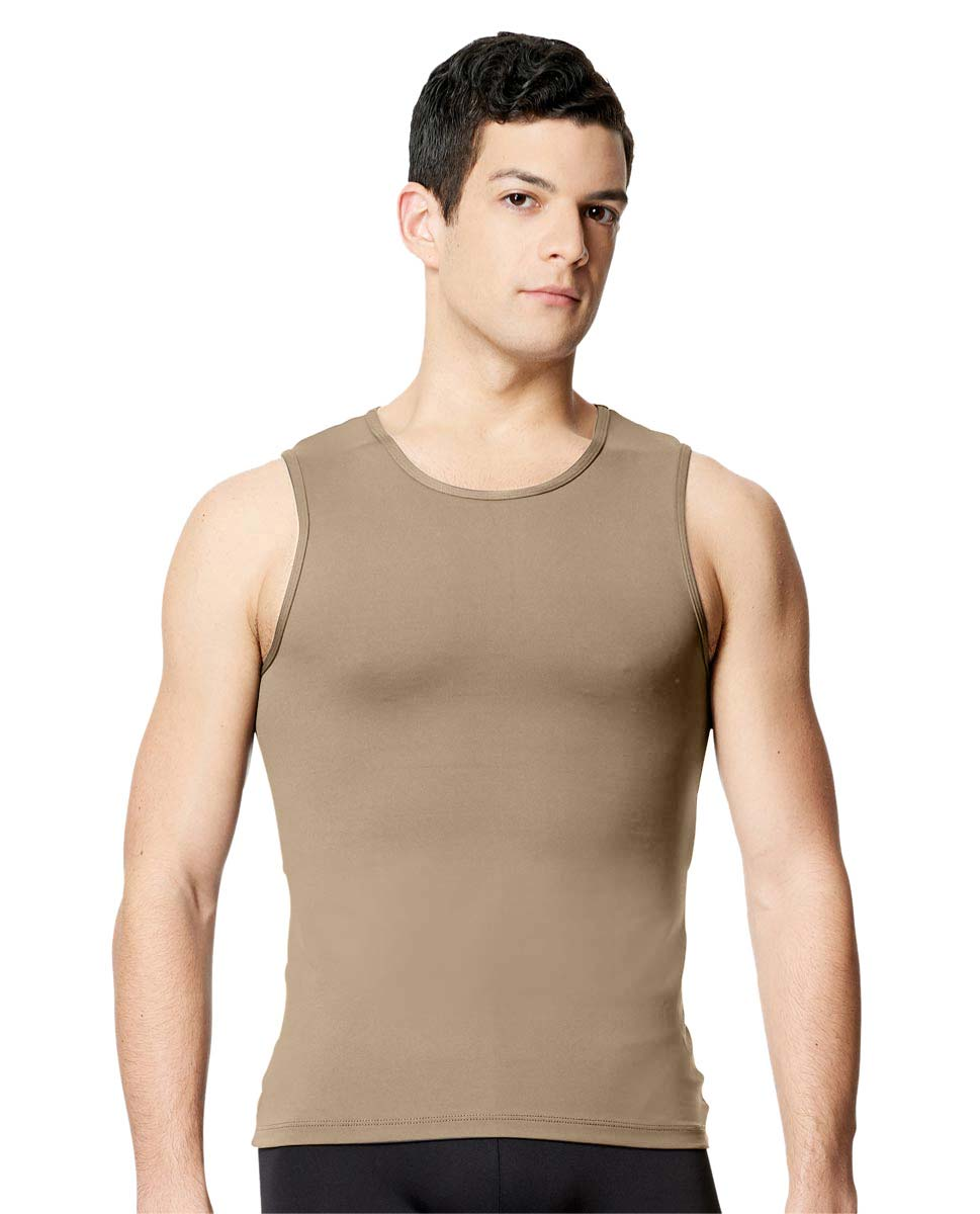 Mens Microfiber Tank Dance Top Leo NUD