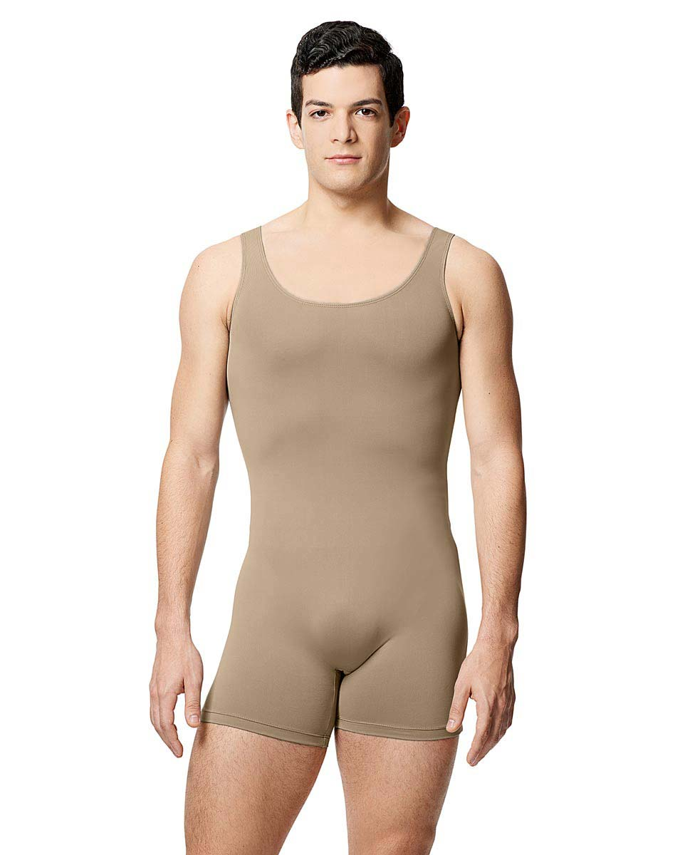Mens Microfiber Tank Shorty Unitard Balzac NUD
