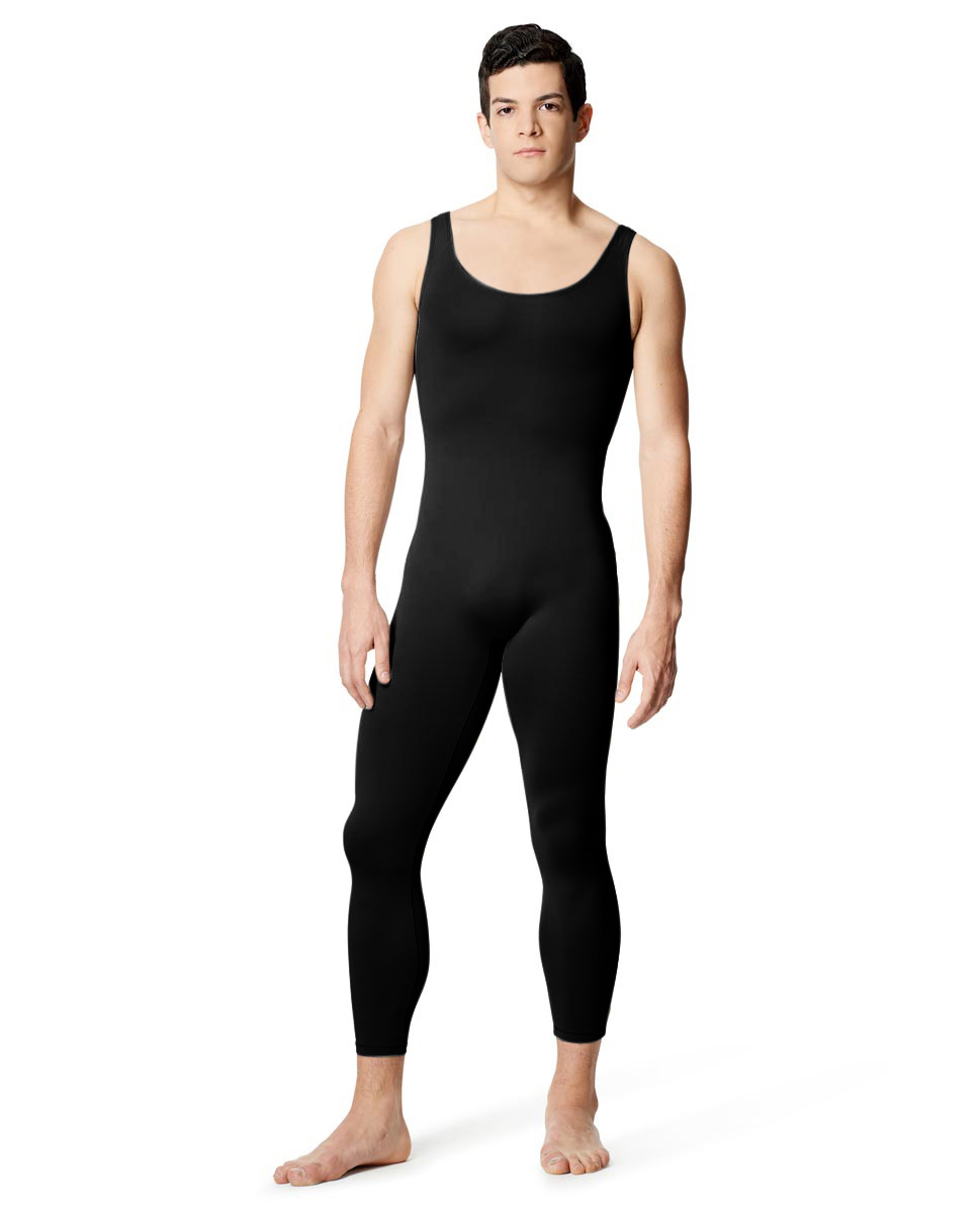 Mens Tactel Tank Footless Unitard Baptiste BLK