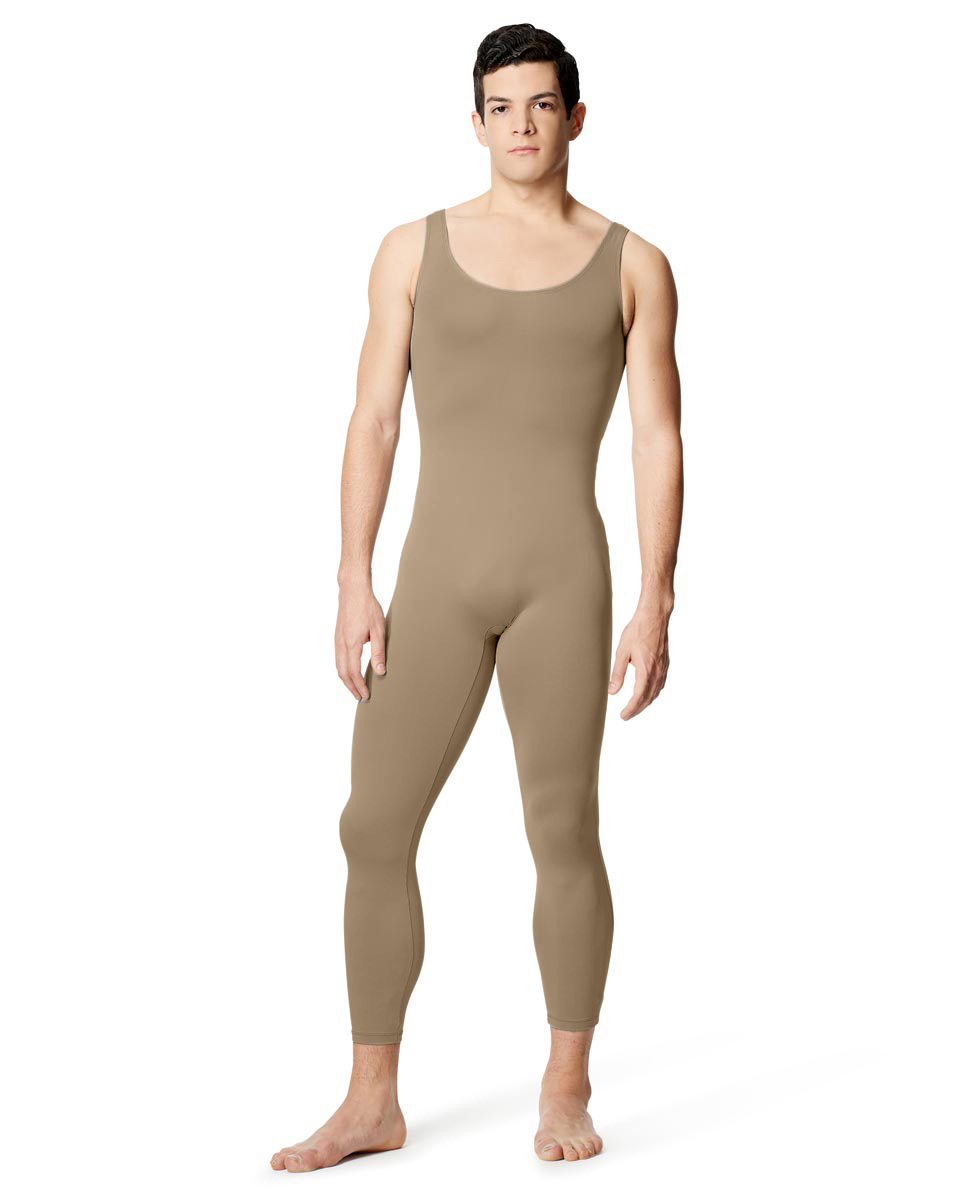 Mens Tactel Tank Footless Unitard Baptiste NUD