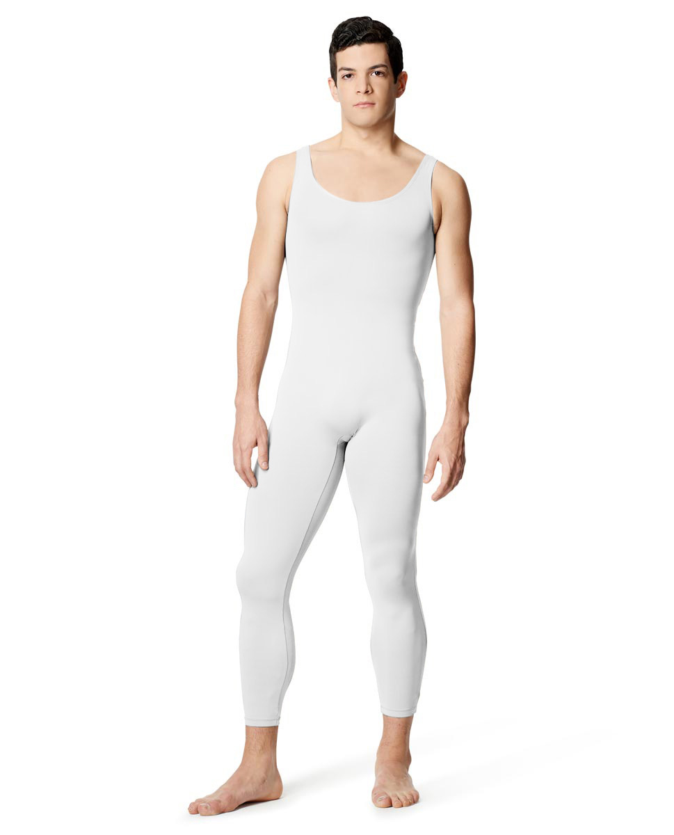 Mens Tactel Tank Footless Unitard Baptiste WHI