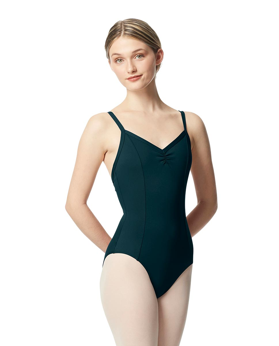 Gathered Front Camisole Ballet Leotard Tatiana DTEAL