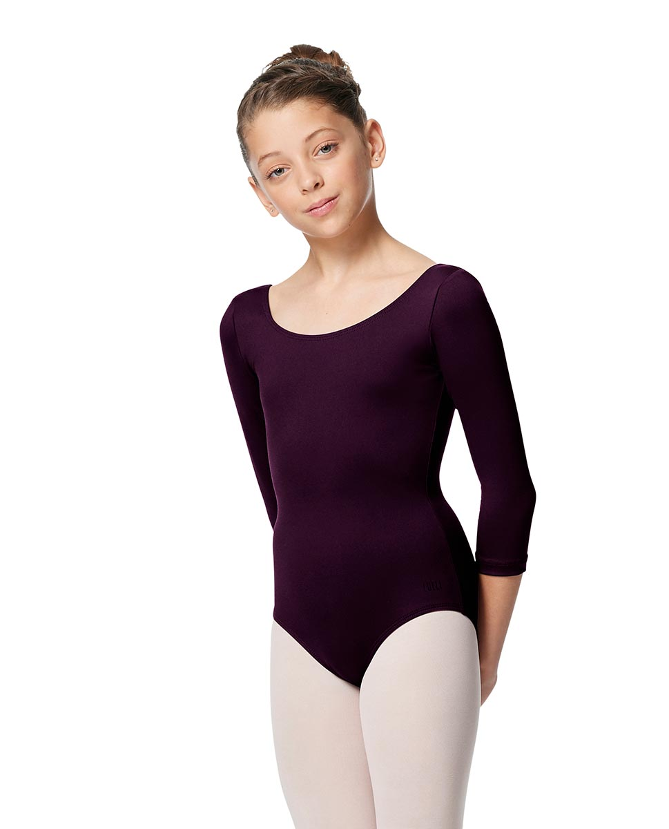 Girls V Back Long Sleeve Tactel Dance Leotard Veronika AUB