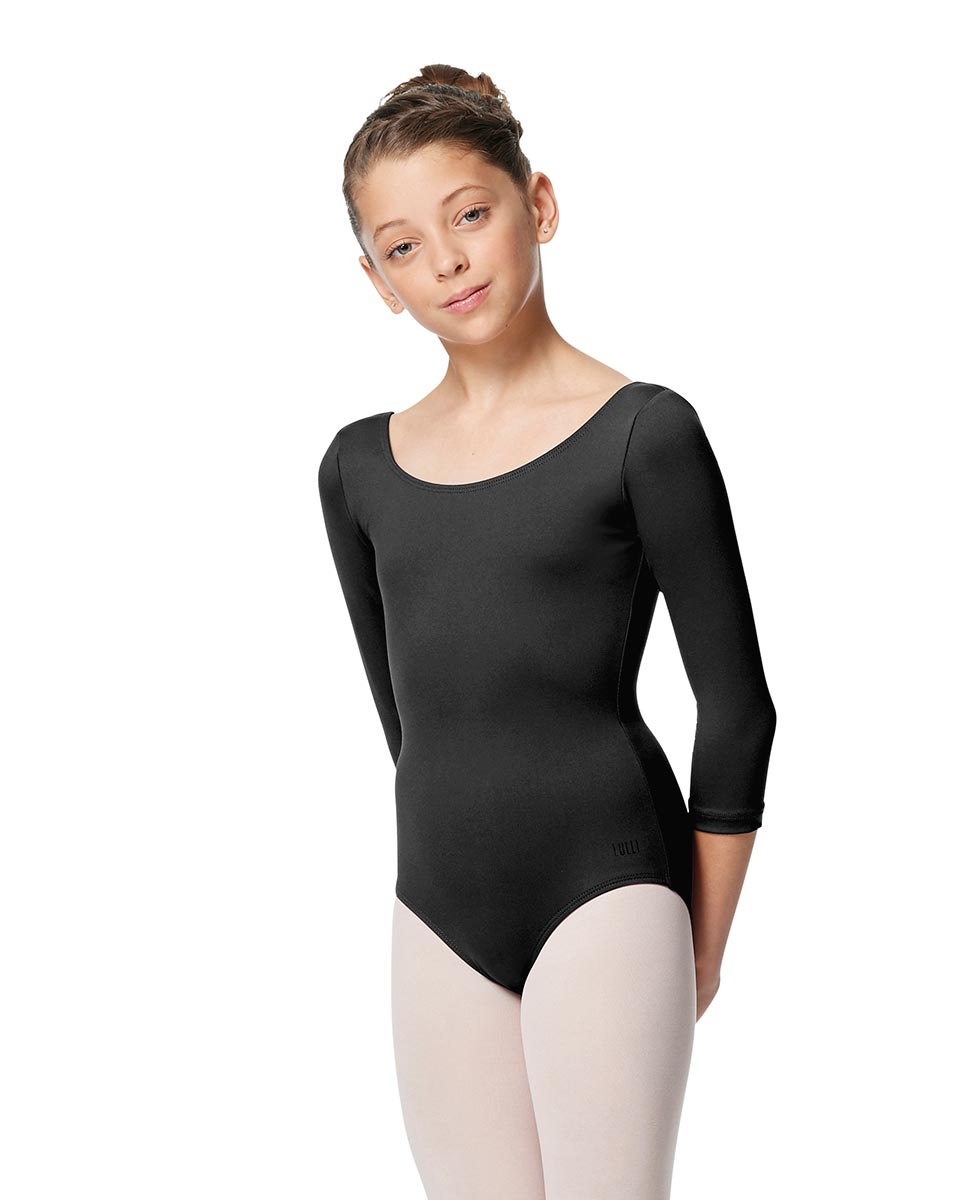 Girls V Back Long Sleeve Tactel Dance Leotard Veronika DGRE
