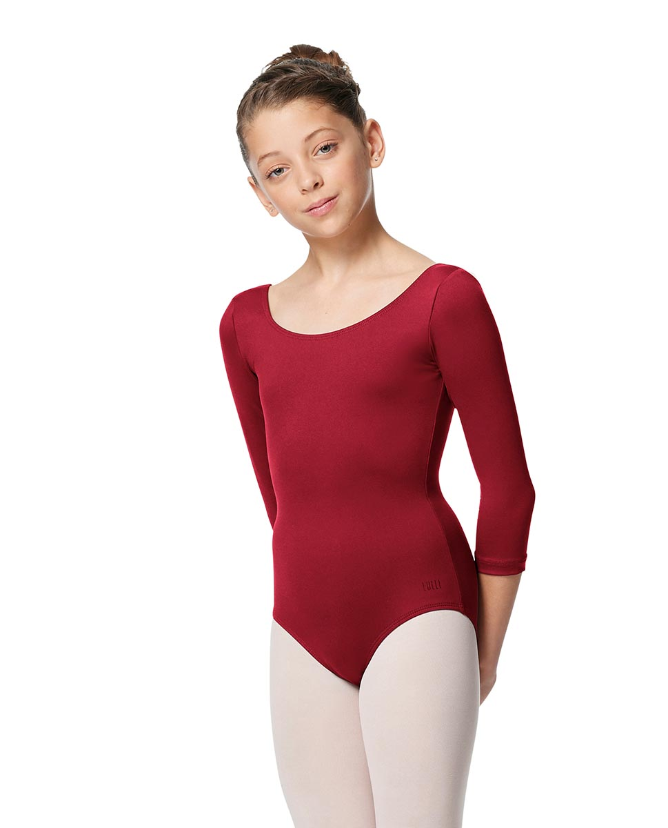 Girls V Back Long Sleeve Tactel Dance Leotard Veronika DRED