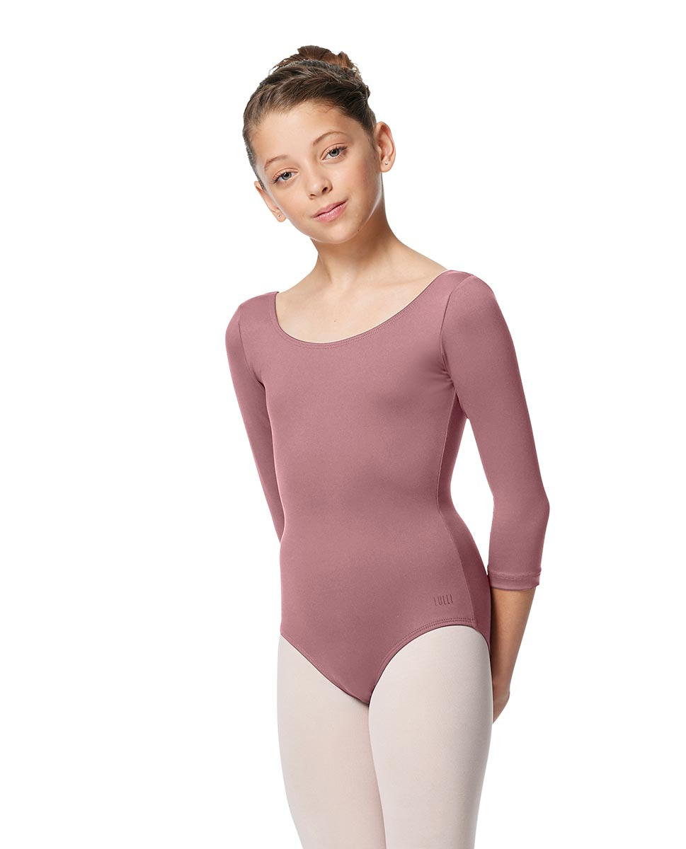 Girls V Back Long Sleeve Tactel Dance Leotard Veronika DROS