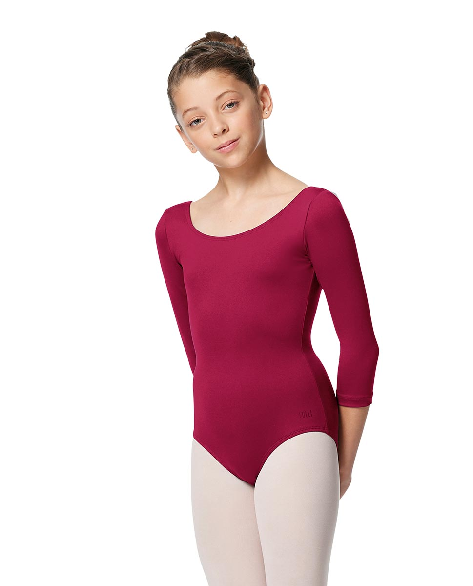 Girls V Back Long Sleeve Tactel Dance Leotard Veronika FUC