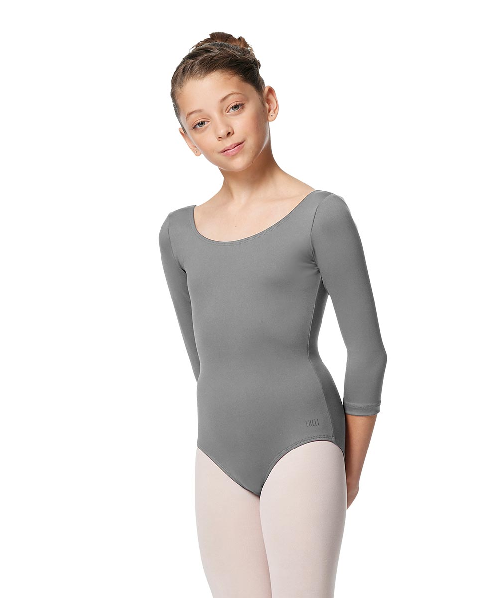 Girls V Back Long Sleeve Tactel Dance Leotard Veronika GRE