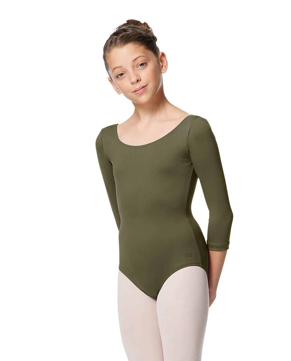 Girls V Back Long Sleeve Tactel Dance Leotard Veronika KHA